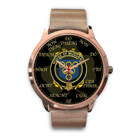 Irish Watch, Musgrave Ireland Family Rose Gold Watch TH7