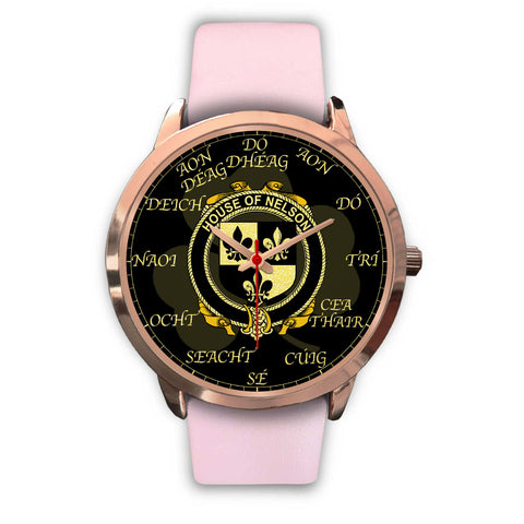 Irish Watch, Nelson or Nealson Ireland Family Rose Gold Watch TH7
