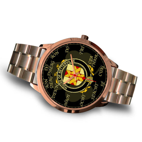 Image of Irish Watch, Netterville or Netterfield Ireland Family Rose Gold Watch TH7