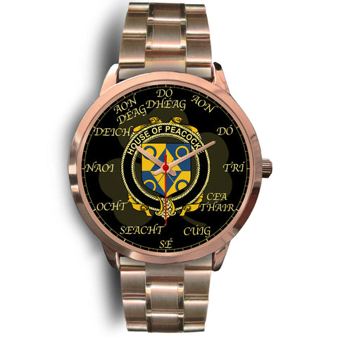 Irish Watch, Peacocke Ireland Family Rose Gold Watch TH7