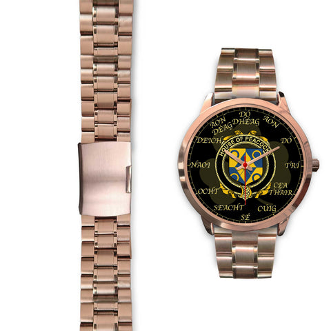 Image of Irish Watch, Peacocke Ireland Family Rose Gold Watch TH7
