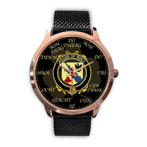 Irish Watch, Riall or Ryle Ireland Family Rose Gold Watch TH7
