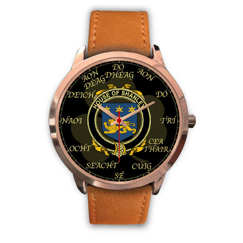 Irish Watch, Shanley or McShanly Ireland Family Rose Gold Watch TH7