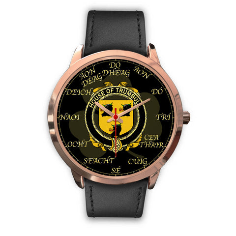 Irish Watch, Trumbull or Turnbull Ireland Family Rose Gold Watch TH7