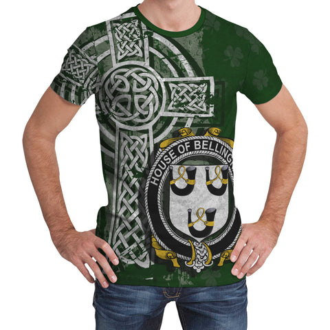 Image of Irish Family, Bellingham Family Crest Unisex T-Shirt | 1st Ireland