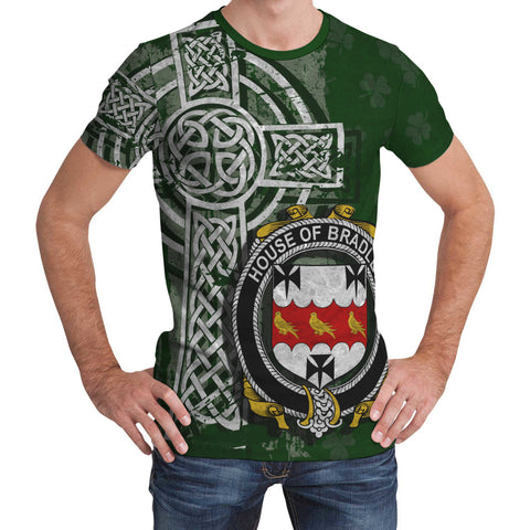 Image of Irish Family, Bradley Family Crest Unisex T-Shirt | 1st Ireland