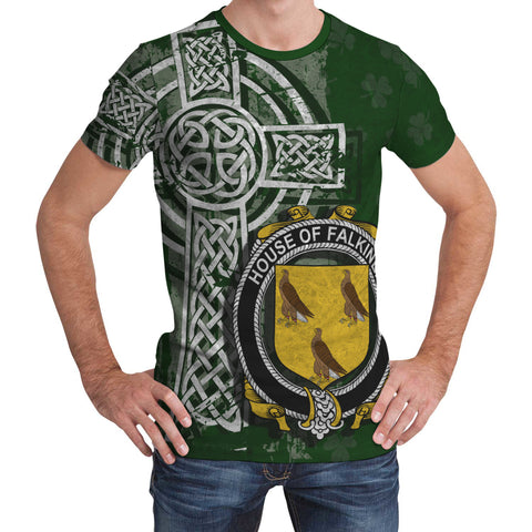 Irish Family, Falkiner Family Crest Unisex T-Shirt | 1st Ireland