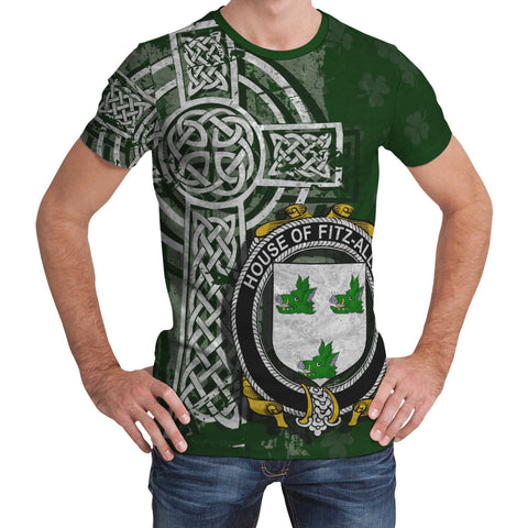 Image of Irish Family, Fitz-Allen Family Crest Unisex T-Shirt | 1st Ireland