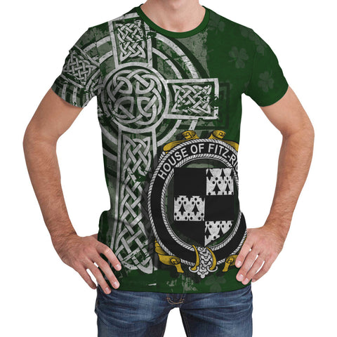 Irish Family, Fitz-Rice Family Crest Unisex T-Shirt | 1st Ireland
