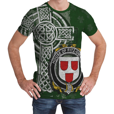 Irish Family, Fitz-Simons Family Crest Unisex T-Shirt | 1st Ireland