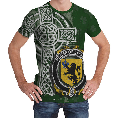 Image of Irish Family, Laffan Family Crest Unisex T-Shirt | 1st Ireland
