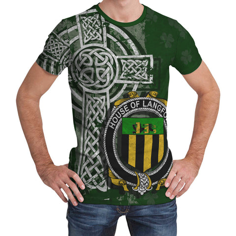 Image of Irish Family, Langford Family Crest Unisex T-Shirt | 1st Ireland