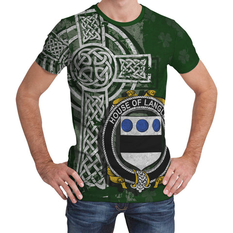 Irish Family, Langley Family Crest Unisex T-Shirt | 1st Ireland