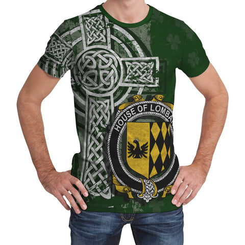 Image of Irish Family, Lombard Family Crest Unisex T-Shirt | 1st Ireland