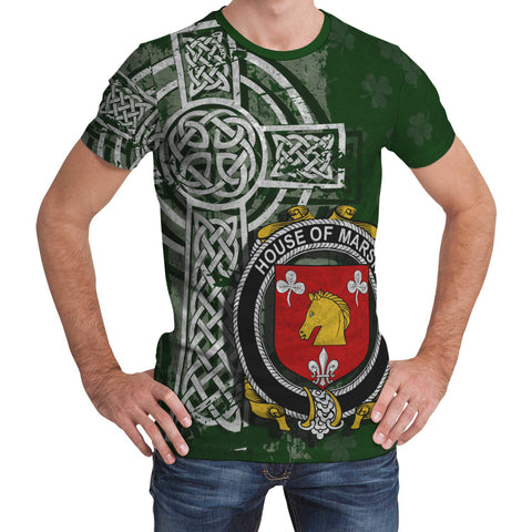 Image of Irish Family, Marsh Family Crest Unisex T-Shirt | 1st Ireland