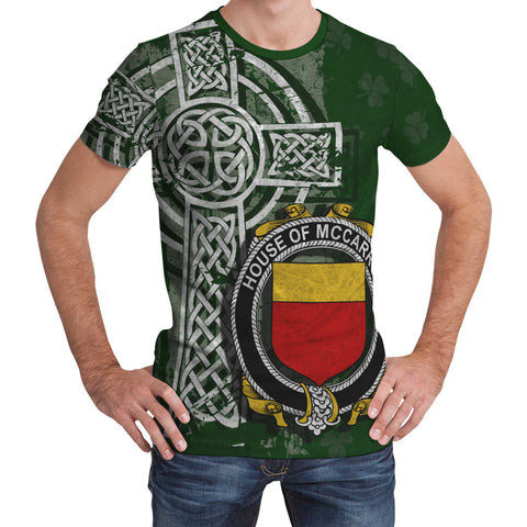 Image of Irish Family, McCarron Family Crest Unisex T-Shirt | 1st Ireland