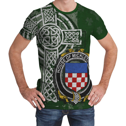 Irish Family, Micklethwait Family Crest Unisex T-Shirt | 1st Ireland