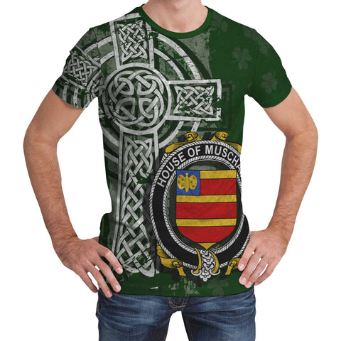 Irish Family, Muschamp Family Crest Unisex T-Shirt | 1st Ireland