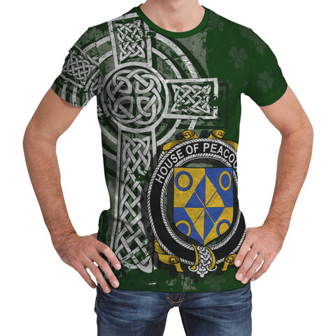 Irish Family, Peacocke Family Crest Unisex T-Shirt | 1st Ireland