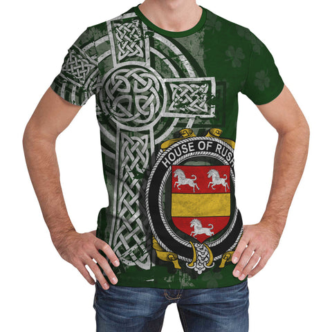 Irish Family, Rush Family Crest Unisex T-Shirt | 1st Ireland