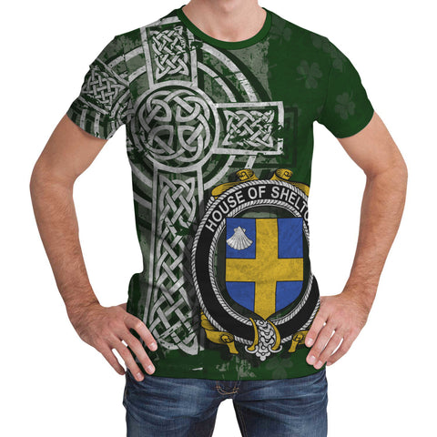 Irish Family, Shelton Family Crest Unisex T-Shirt | 1st Ireland
