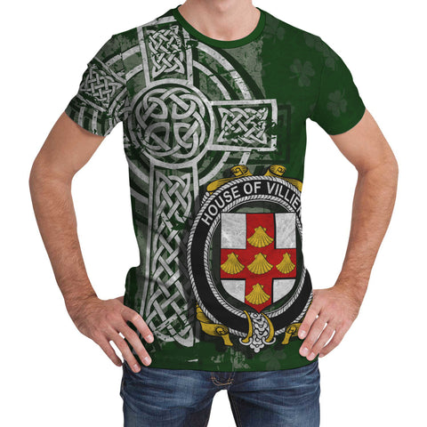 Image of Irish Family, Villiers Family Crest Unisex T-Shirt | 1st Ireland
