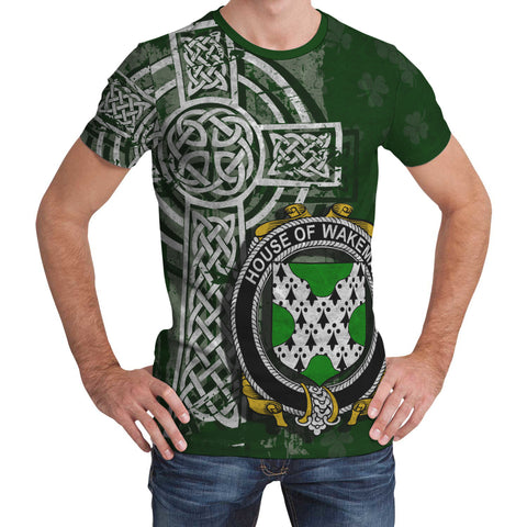 Irish Family, Wakeman Family Crest Unisex T-Shirt | 1st Ireland