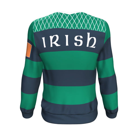 Rugby Sweatshirt - Croker Green and Navy Traditional - Green - Back - For Men and Women