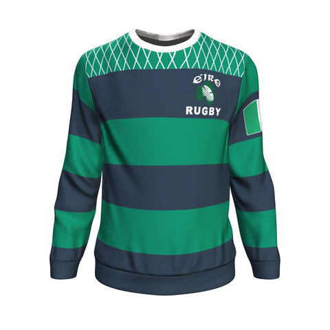 Rugby Sweatshirt - Croker Green and Navy Traditional - Green - Front - For Men and Women