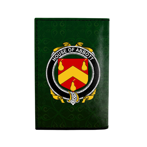 (Laser Personalized Text) Abbott Family Crest Minimalist Wallet K6