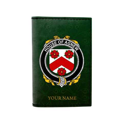 (Laser Personalized Text) Agnew Family Crest Minimalist Wallet