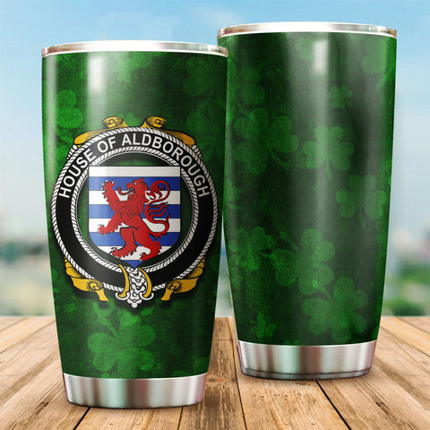 Aldborough Family Crest Ireland Shamrock Tumbler Cup  K6