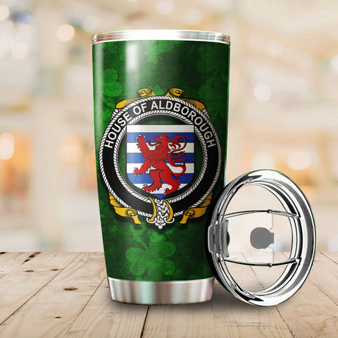Image of Aldborough Family Crest Ireland Shamrock Tumbler Cup  K6