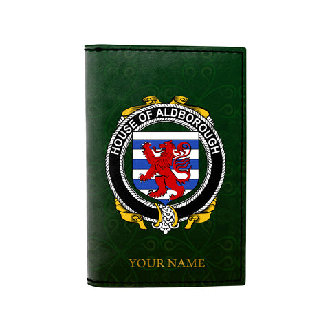 (Laser Personalized Text) Aldborough Family Crest Minimalist Wallet