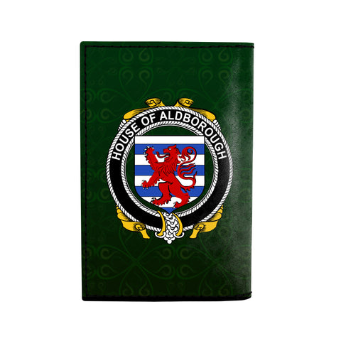 Image of (Laser Personalized Text) Aldborough Family Crest Minimalist Wallet K6