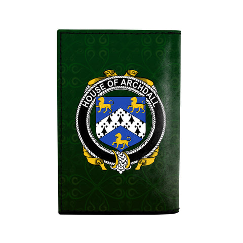 (Laser Personalized Text) Archdall Family Crest Minimalist Wallet K6
