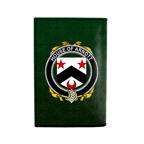 Image of (Laser Personalized Text) Arnott Family Crest Minimalist Wallet K6