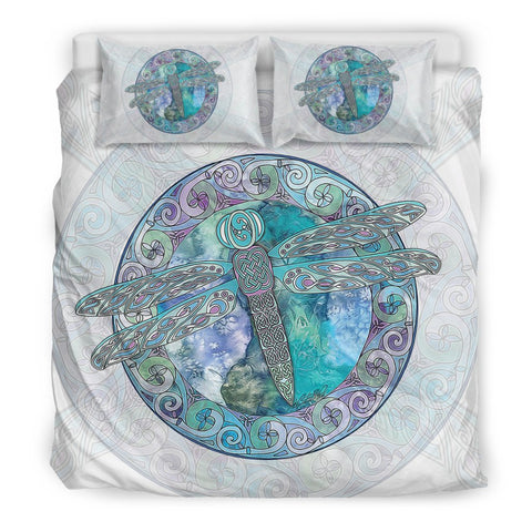 dragonfly, celtic, bedding set, bed, magic bed, celtic bedding set, celtic duvet cover, celtic symbols