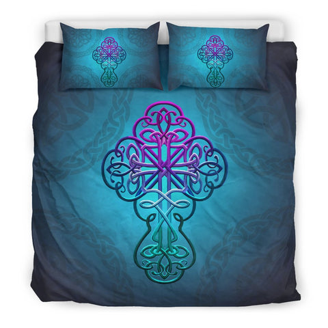 Image of Celtic Bedding Set - Celtic Cross Christian | HOT Sale