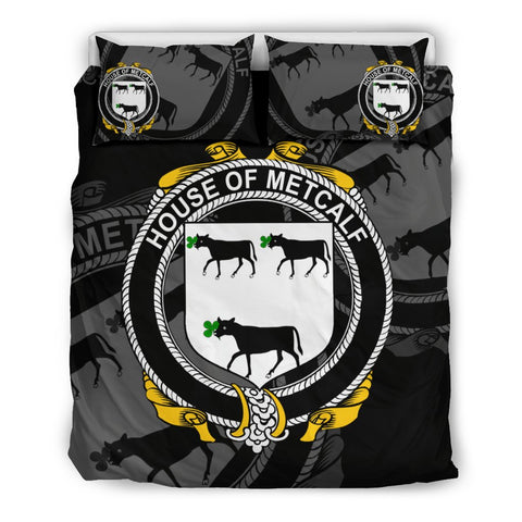 Image of Ireland Bedding Set - Metcalf Or Metcalfe | Over 1400 Irish Surnames | Special Custom Design
