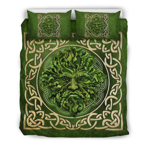 celtic, green man, bedding set, bed, tree celtic, ireland, celtic bedding set, celtic duvet cover, celtic symbols