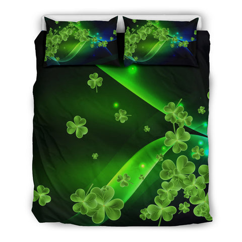 Irish Shamrock Bedding Set, Northern Lights Duvet Cover And Pillow Case Th9