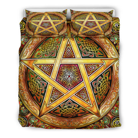Celtic Star Knot Bedding Set Yellow
