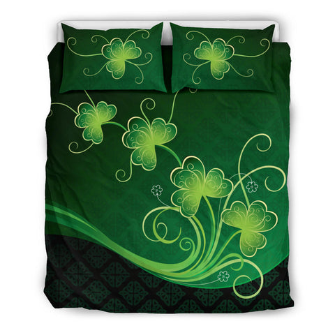 Image of Ireland Bedding Set Shamrocks Floral