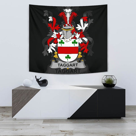 Irish Tapestry, Taggart or McEntaggart Family Crest Wall Carpet A7