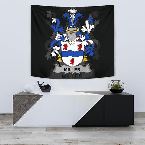 Irish Tapestry, Miller Family Crest Wall Carpet A7