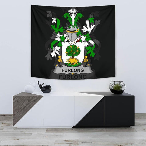 Irish Tapestry, Furlong Family Crest Wall Carpet A7