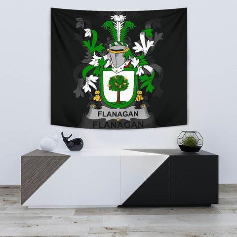 Irish Tapestry, Flanagan or O'Flanagan Family Crest Wall Carpet A7