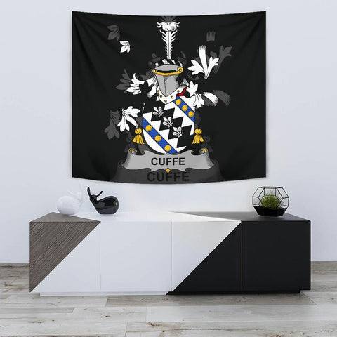 Irish Tapestry, Cuffe Family Crest Wall Carpet A7