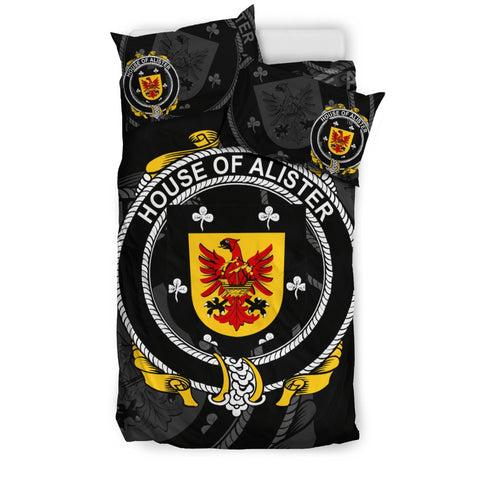 Ireland Bedding Set - Alister Or Mcalister | Over 1400 Irish Surnames | Special Custom Design